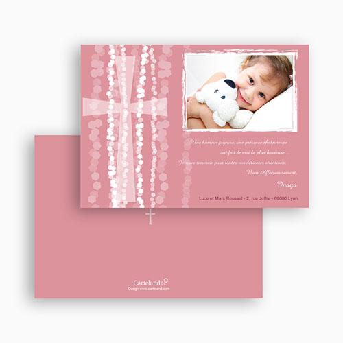 Carte Remerciement Baptême Fille Merci Inaya gratuit