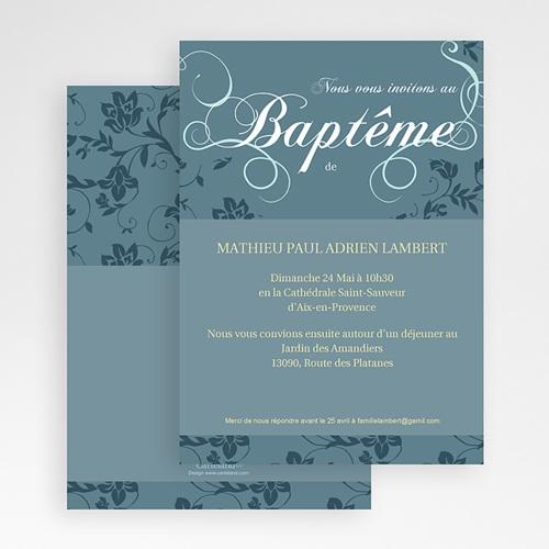 Faire-part Baptême Garçon - Aquae 19678 thumb