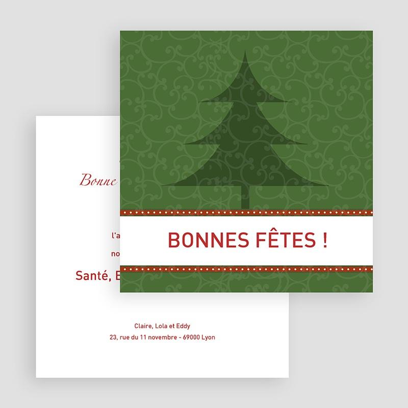 Carte de Voeux Bonne Fêtes de fin d'année Ever Green gratuit