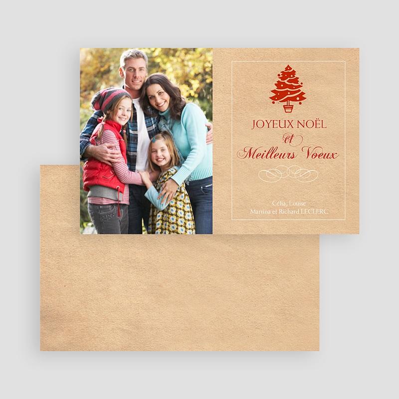 Carte de Voeux Joyeux Noël & Meilleurs Voeux Arbre à bijoux - 2 gratuit