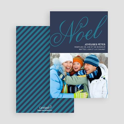 Carte Noël Joyeuses fêtes de Noël en Bleu gratuit
