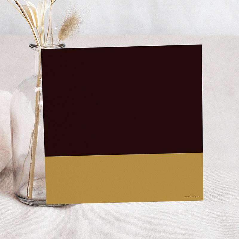 Carte Invitation Anniversaire Adulte 80 ans - Or et Chocolat pas cher