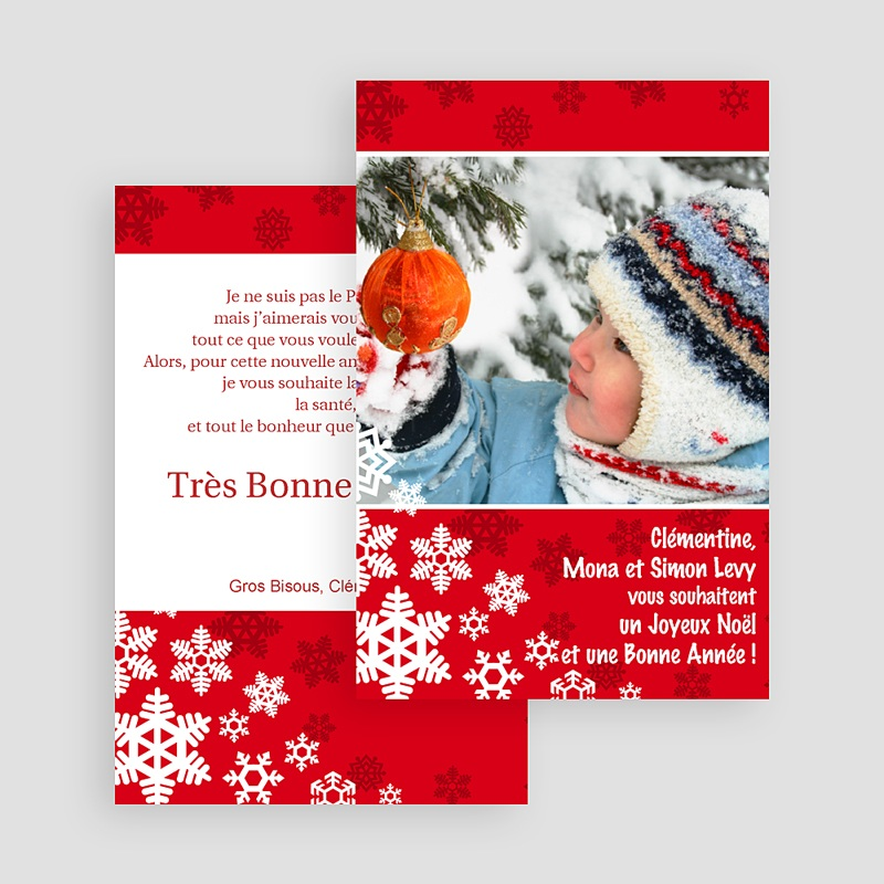Carte de voeux Joyeux Noel et Bonne Année Dentelle d'Hiver gratuit