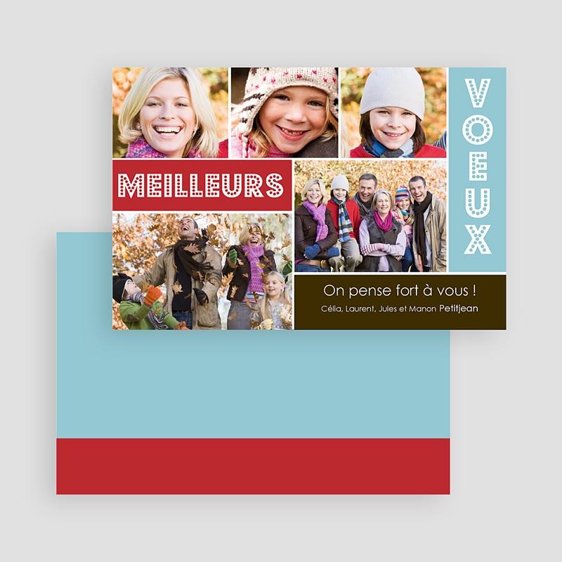 Carte de Voeux Meilleurs Voeux Multi-photos Joyeux Collage gratuit