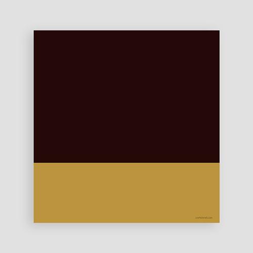 Carte invitation anniversaire adulte 75 ans - Or et Chocolat pas cher