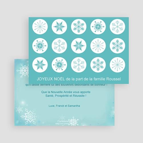 Carte Noël Joyeux Noël Cristaux de neige gratuit