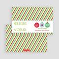 Carte de Voeux Meilleurs Voeux Rubans de Noel gratuit