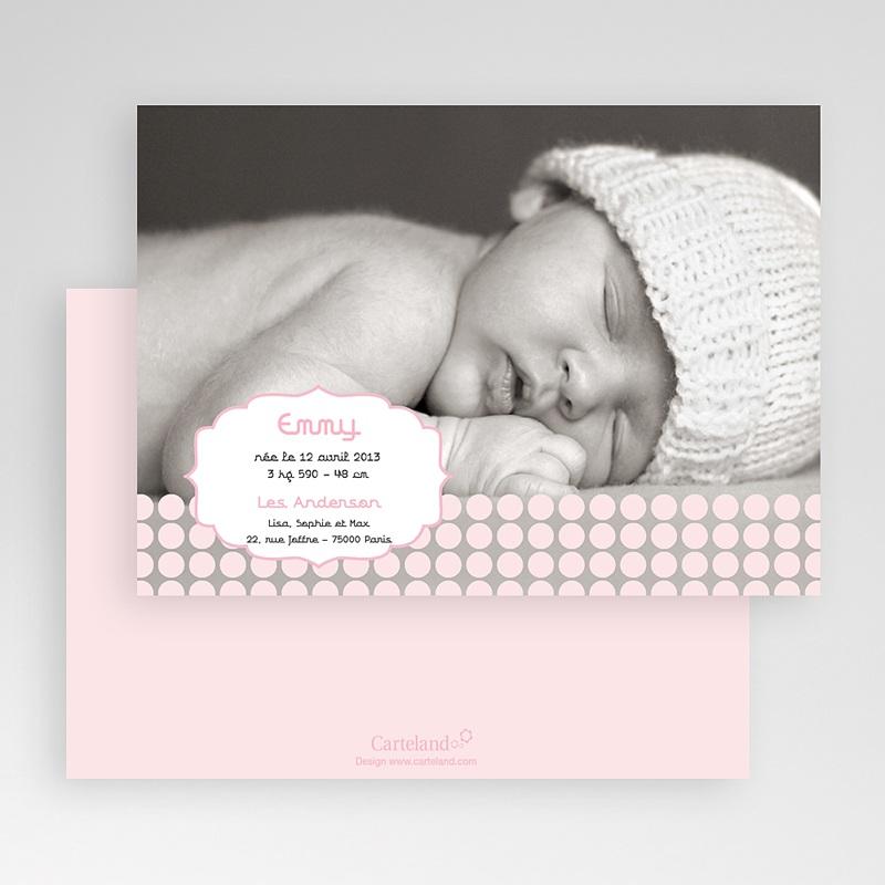 Faire-Part Naissance Fille Douceur Rosée gratuit