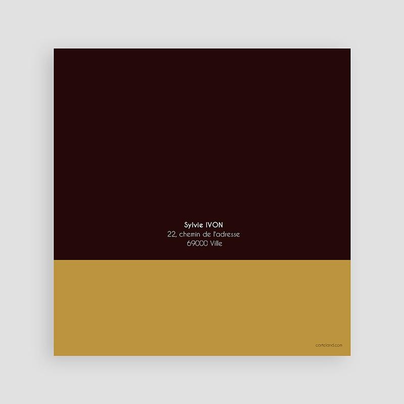 Carte Invitation Anniversaire Adulte 50 ans - Or et Chocolat pas cher