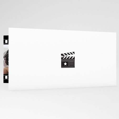 Faire part mariage noir et blanc - Modèle Cinéma 20009 thumb