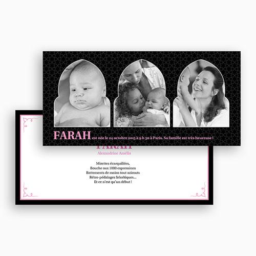 Faire-Part Naissance Fille - 1001 nuits 20015 preview