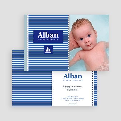 Faire-Part Naissance Garçon - Alban, le Petit Marin 20016 preview