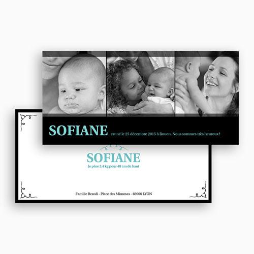 Faire-Part Naissance Fille - Arabesques et Galipettes 20018 thumb