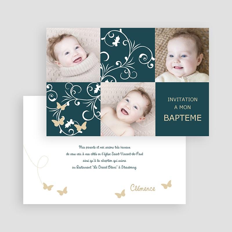 Faire-Part Baptême Fille Sacrement et photos gratuit
