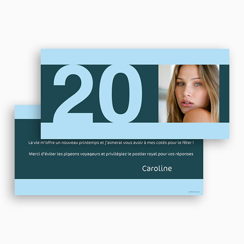 Carte invitation anniversaire adulte Anniversaire classique gratuit