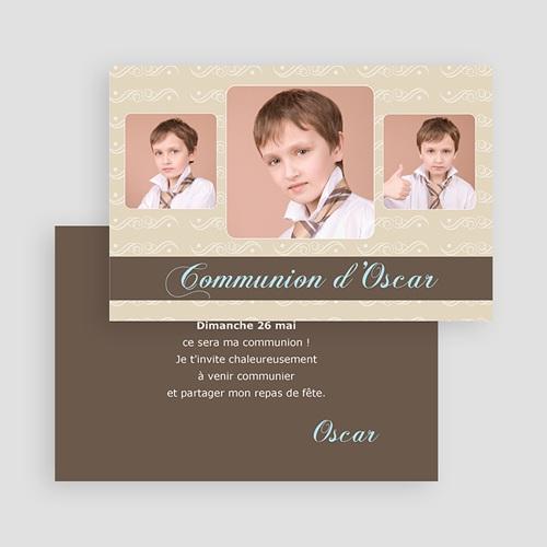 Faire-Part Communion Garçon Le chemin, la vérité et la vie gratuit