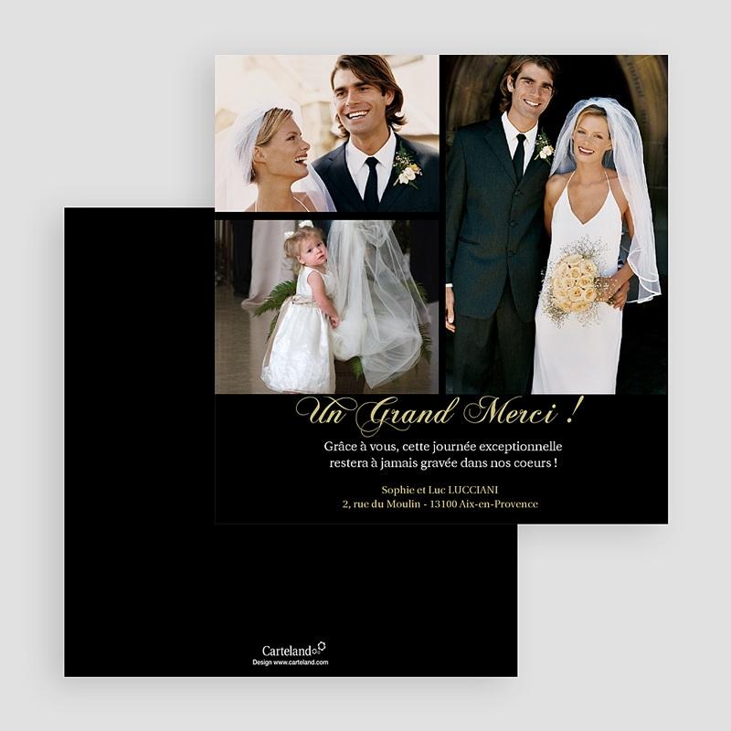 Remerciements Mariage Personnalisés Un Grand Merci gratuit
