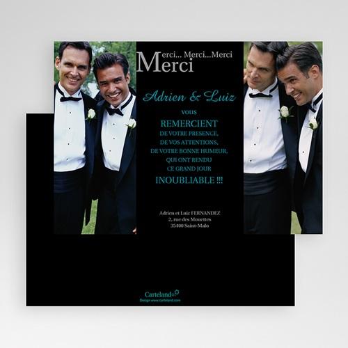 Carte Remerciements Pacs - Merci, Merci, Merci 20154 thumb