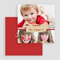 Cartes Multi-photos 3 & + - Trio de photos - Bordure rouge 20201 thumb