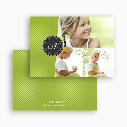 Cartes Multi-photos 3 & + -  Bande Vert printemps 20249 thumb