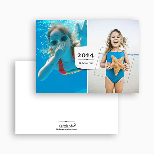 Cartes Multi-Photos 2 photos - Multi photo 2 - Post it 20252 preview