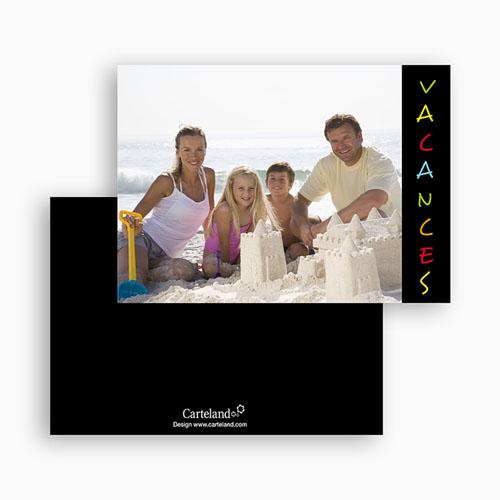 Cartes photo à créer - Vacances - Fond Noir 20295 thumb