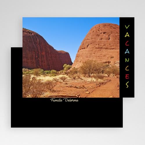 Carte personnalisée 1 photo Portrait - Bandeau noir gratuit