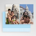 Cartes Multi-Photos 2 photos - Deux Photos - Rayures Bleues 20298 thumb