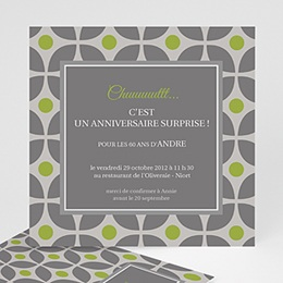 Invitations Anniversaire adulte Restau chic