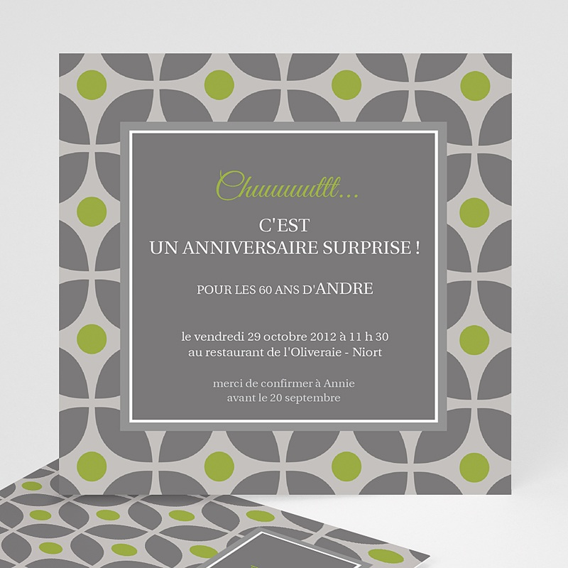 invitation anniversaire adulte restau chic. Black Bedroom Furniture Sets. Home Design Ideas