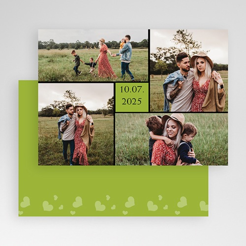 Cartes Multi-photos 3 & + - Bordure noire, carré vert 20301 thumb