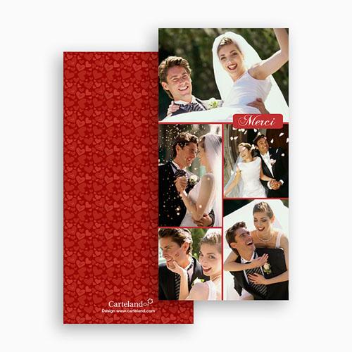 Cartes Multi-photos 3 & + - Cinq - Rouge 20333 thumb