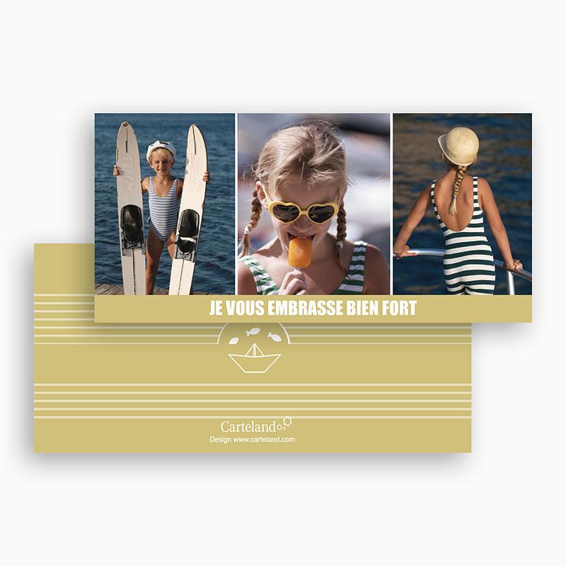 Cartes Multi-photos 3 & + - Marinière beige 20335 thumb