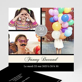 Carte invitation anniversaire adulte Extravagance et élégance