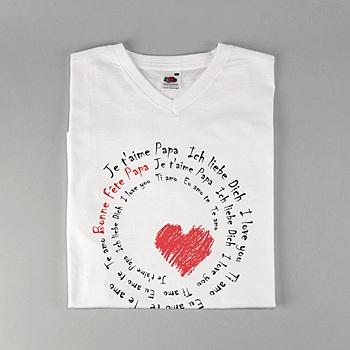 Créer soi même tee-shirt avec photo déclaration d'amour