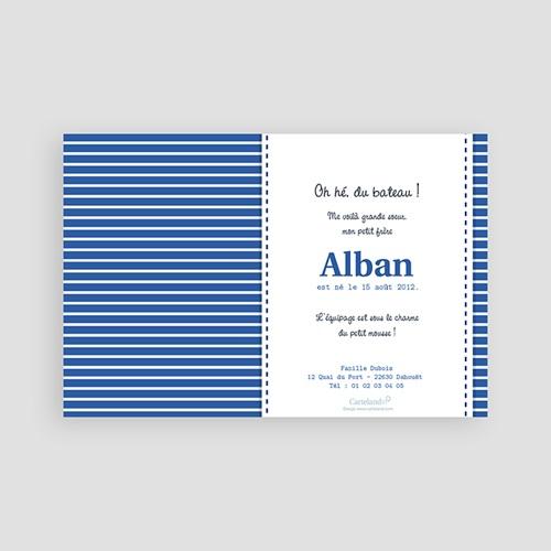 Faire-Part Naissance Garçon - Alban, le Petit Marin 2053 preview