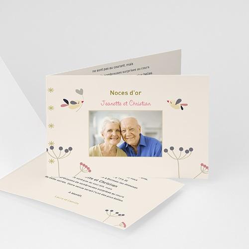 Invitations Anniversaire Mariage - L'envolée amoureuse 20560