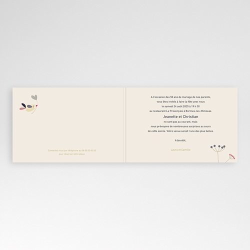 Invitations Anniversaire Mariage - L'envolée amoureuse 20561 thumb