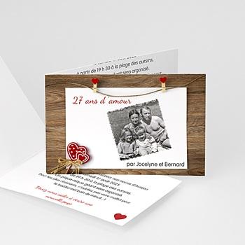 Invitations Anniversaire Mariage - Sur le fil - 4