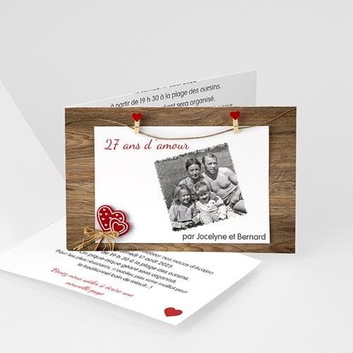 Invitations Anniversaire Mariage - Sur le fil 20593