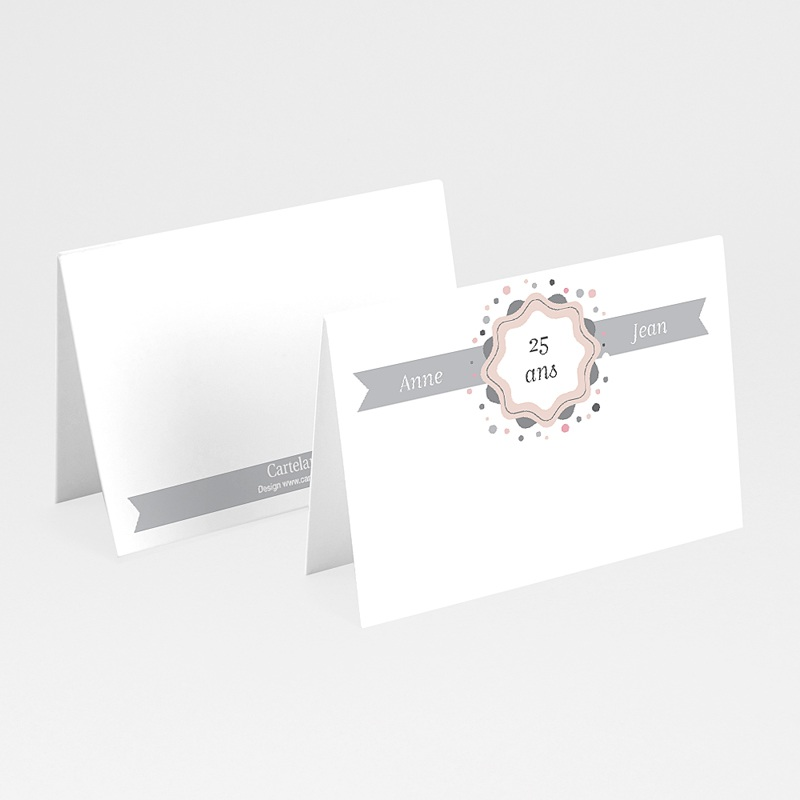 marque place Anniversaire - 25 ans d'Amour 20605 thumb
