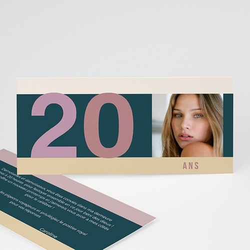 Carte Invitation Anniversaire Adulte Anniversaire classique
