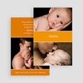 Faire-Part Naissance Fille - Bande-Annonce orange 20686 thumb