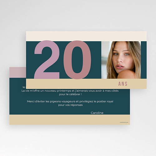 Invitation Anniversaire Adulte - Anniversaire classique 2069 preview