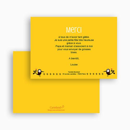 Remerciements Naissance Fille - Merci Cui cui 20719 preview