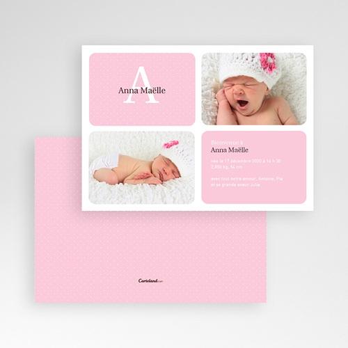 Faire-Part Naissance Fille - Rose Princesse 2073 thumb