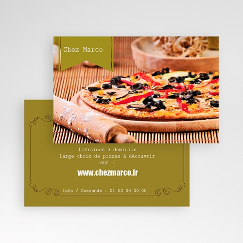 Carte de Visite - Pizzeria italienne 20762 preview