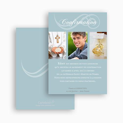 Invitation Confirmation  - Communion calligraphiée 20795 preview