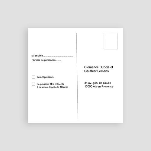 Carton Invitation Personnalisé Aquarelle Chinoise pas cher