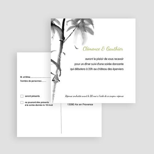 Carton Invitation Personnalisé Aquarelle Chinoise gratuit